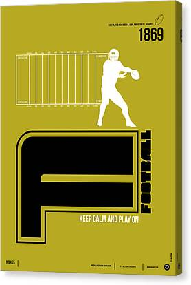 Football Poster Canvas Print by Naxart Studio