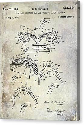 Football Shoulder Pads Patent Canvas Print by Jon Neidert