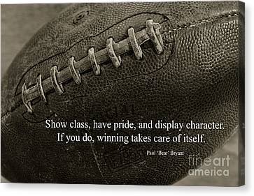 Football Show Class Canvas Print by Paul Ward