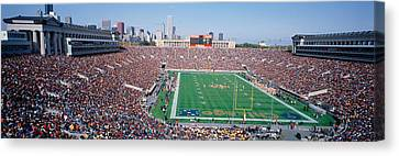Football, Soldier Field, Chicago Canvas Print by Panoramic Images