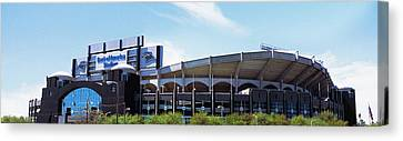 Football Stadium In A City, Bank Canvas Print by Panoramic Images