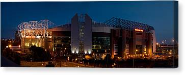 Football Stadium Lit Up At Night, Old Canvas Print