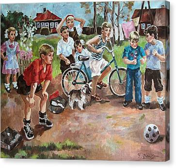 Football Canvas Print by Yury Denissov