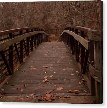 Canvas Print featuring the photograph Footbridge At Conkle's Hollow by Haren Images- Kriss Haren
