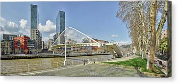Footbridge Over A River, Zubizuri Canvas Print by Panoramic Images