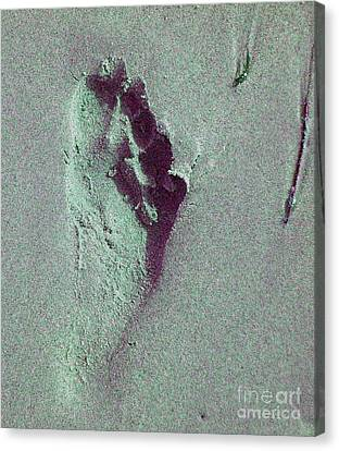 Canvas Print featuring the photograph Footprint by Mini Arora