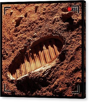 Footprint On Mars Canvas Print