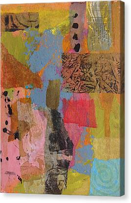 Canvas Print featuring the mixed media Footprints by Catherine Redmayne