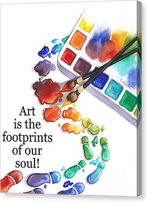Footprints Of Our Soul Canvas Print