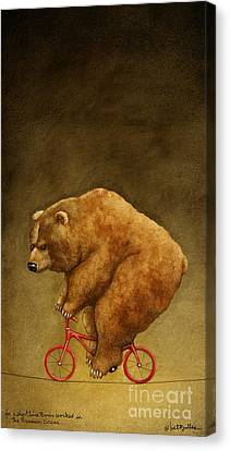 For A Short Time Boris Worked With The Russian Circus. Canvas Print by Will Bullas