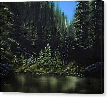 For Ever Green Canvas Print by Jamil Alkhoury