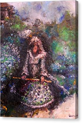 Canvas Print featuring the painting For Grandma by Laurie Lundquist