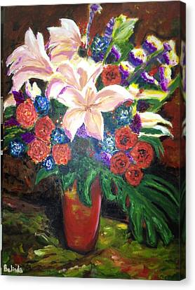 Canvas Print featuring the painting For My Friend Lily by Belinda Low