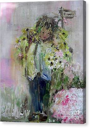 Canvas Print featuring the painting For My Mother by Laurie Lundquist
