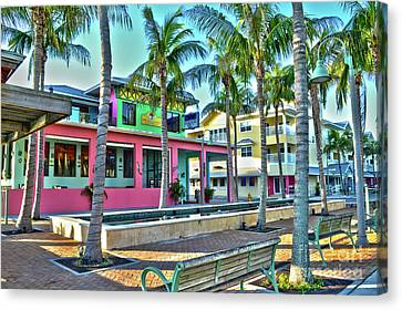 For Myers Beach Restaurant Canvas Print
