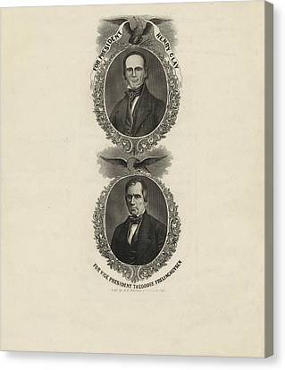 For President, Henry Clay. For Vice President Canvas Print