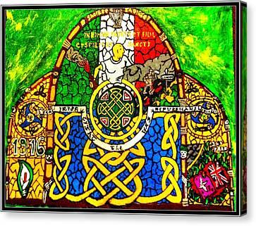 For The Families Of Irish Pows Canvas Print by Brett Genda