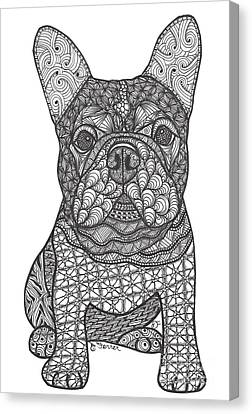 For The Love - French Bulldog Canvas Print