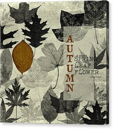 For The Love Of Autumnn Canvas Print by Bonnie Bruno