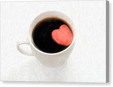 For The Love Of Coffee Canvas Print by Linda Matlow
