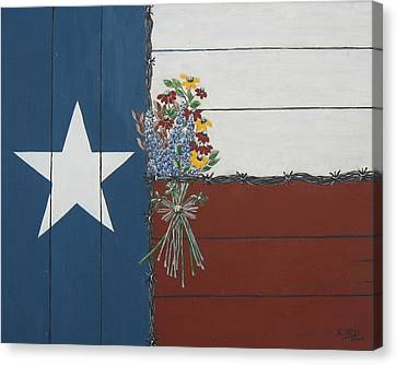 For The Love Of Texas Canvas Print by Suzanne Theis