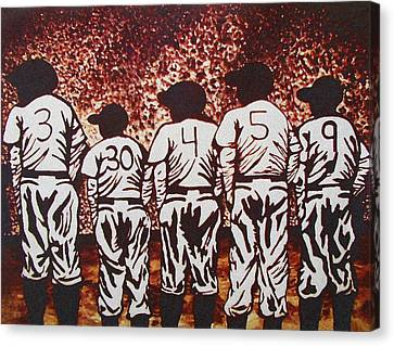 For The Love Of The Game Canvas Print by Yvonne Sayers