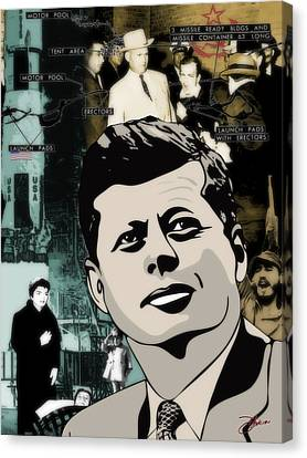 For Your Country John F. Kennedy Canvas Print by Dancin Artworks