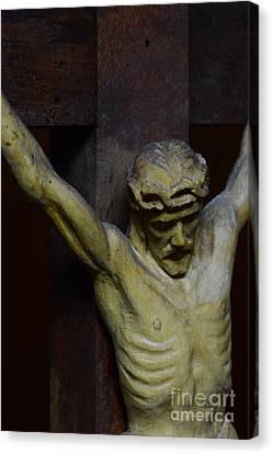 Crucifix Art Canvas Print - For Your Sins by Paul Ward