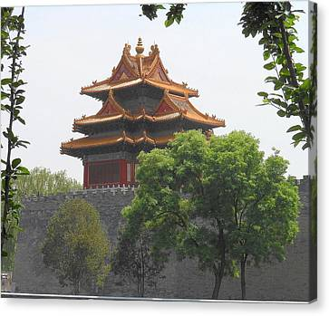 Forbidden City Building 3 Canvas Print by Kay Gilley