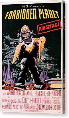 Forbidden Planet 1956 Canvas Print by Presented By American Classic Art