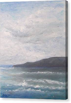 Canvas Print featuring the painting Force Of Nature 3 by Jane  See