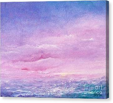 Canvas Print featuring the painting Force Of Nature 4 by Jane  See