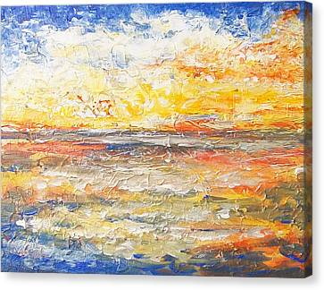 Canvas Print featuring the painting Force Of Nature 5 by Jane  See