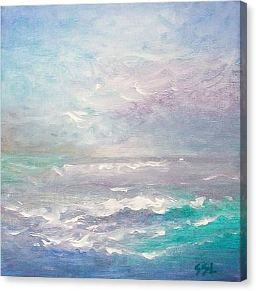Canvas Print featuring the painting Force Of Nature  by Jane  See
