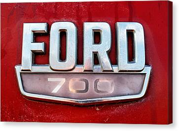 Ford 700 Truck Emblem Canvas Print by Tom Druin
