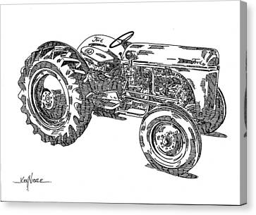 Ford 8n Tractor Canvas Print by Ken Nickle