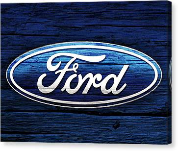 Ford Barn Door Canvas Print by Dan Sproul