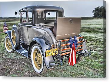 Canvas Print featuring the photograph Ford Classic by Dyle   Warren