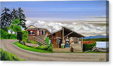Hornby Island Canvas Print - Ford Cove Hornby Island by Elissa Anthony