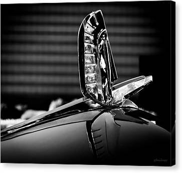 Ford - Cresline Sunliner Hood Ornament Canvas Print by Steven Milner