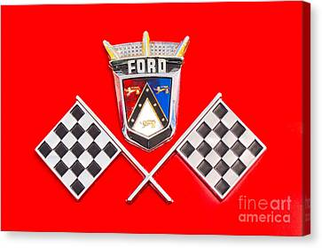 Ford Emblem Canvas Print by Jerry Fornarotto
