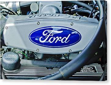 Ford Engine Emblem Canvas Print