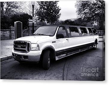 Ford Excursion Stretched Limo Canvas Print by Olivier Le Queinec