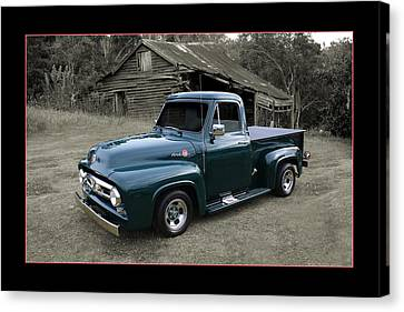Canvas Print featuring the photograph Ford F100 by Keith Hawley