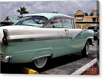 Ford Fairlane Profile Canvas Print by Andres LaBrada