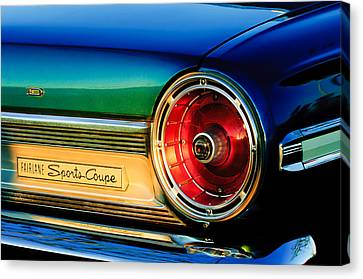 Ford Fairlane Sports Coupe Taillight Emblem Canvas Print by Jill Reger