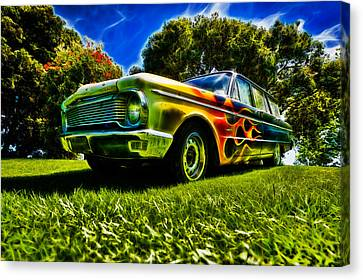 Ford Falcon Station Wagon Canvas Print by motography aka Phil Clark