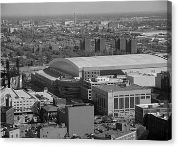 Ford Field Bw Canvas Print