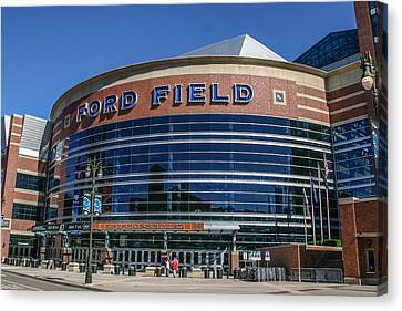 Ford Field  Canvas Print by John McGraw
