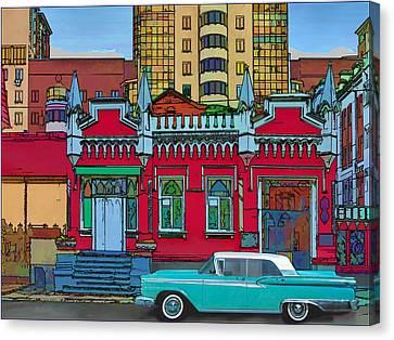 Ford Galaxy-town-victoria 1959 Canvas Print by Vladimir Kholostykh